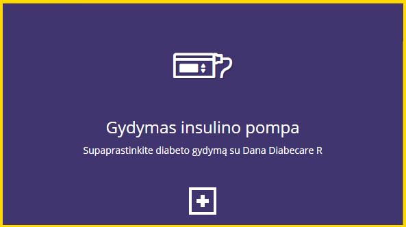 gydymas insulino pompa